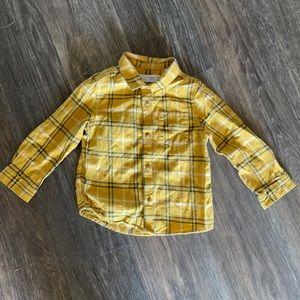 4/$20 Zara Button Up Plaid Shirt Sz 18-24 mth